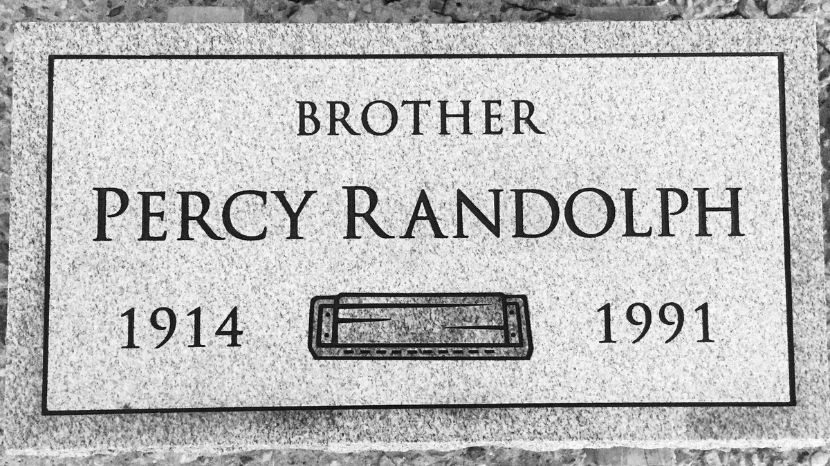 Remembering bluesman and Killer Blues headstone recipient Percy Randolph - who passed away on this day in 1991 - Mr. Randolph is laid to rest at Providence in #Louisiana! #harmonica #blues #music #nonprofit https://t.co/9alJhU2Jqj