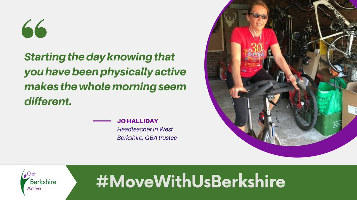 Jo Halliday, Headteacher in West Berkshire and GBA trustee, sharing her story of #StayingActive during the lockdown. Learn what approaches she has tried and what became her new habit! https://t.co/wsxVW8kkHo #MoveWithUsBerkshire #BeActive