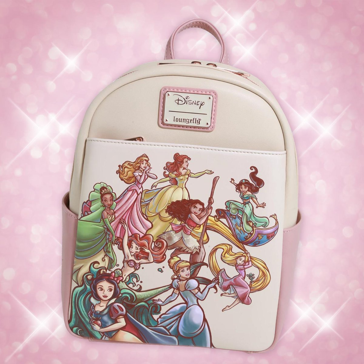 The entire princess squad on one mini backpack?! That's right!!! All in one! 💕👑💕 Exclusively for our friends, @BoxLunchGifts! #Loungefly #Disney #DisneyPrincess #BoxLunch