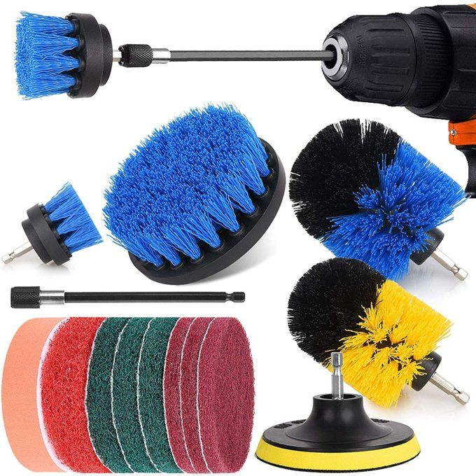 Drill Brush Attachment Bundle for $13.99!  Save 50% with promo code 506H2WC8