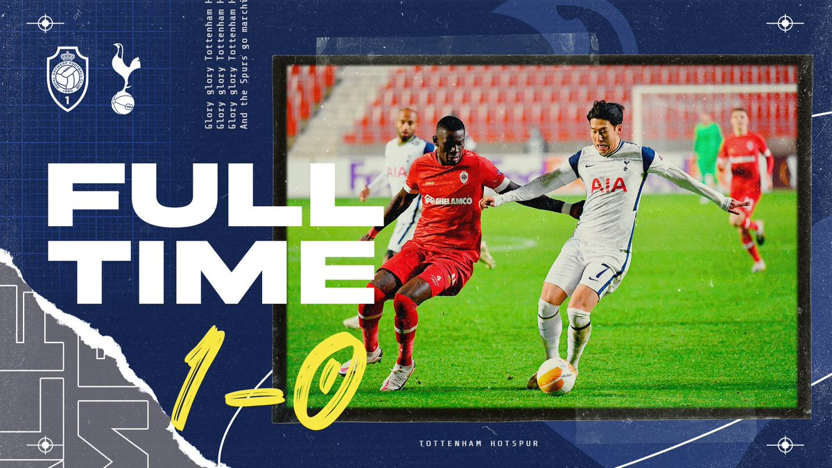 FULL-TIME: Royal Antwerp take the points.  🔴 #RAFC 1-0 #THFC ⚪ https://t.co/3i7u8USJuj