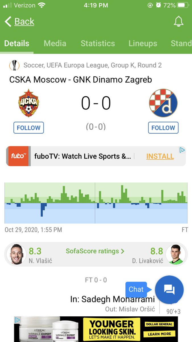 I can't believe CSKA Moscow didn't score today. Totally dominated the game smh. These are the losses you have to live is this business.   We had them ML -110 https://t.co/6ndvOjeGQ3