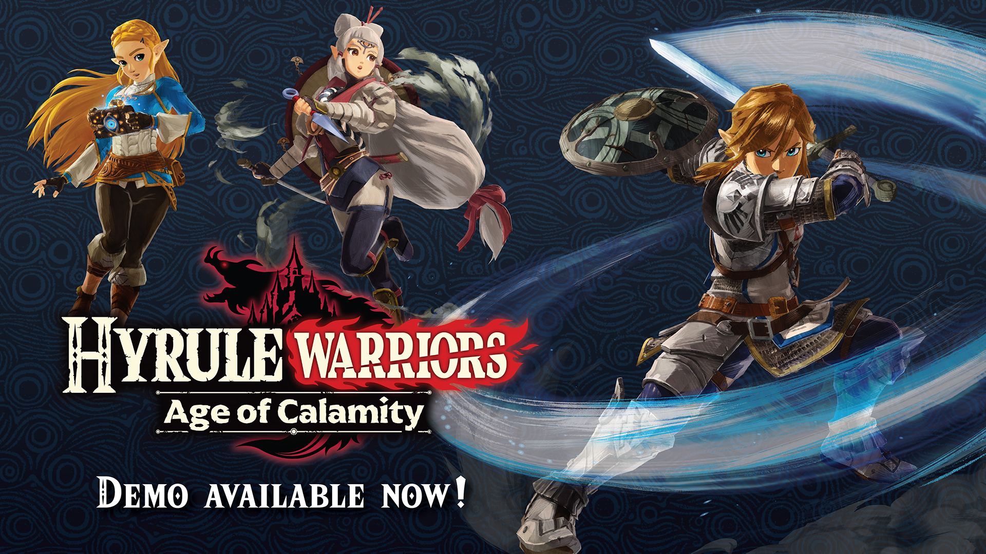Nintendo Of America On Twitter Icymi A Demo Of Hyrulewarriors Age Of Calamity Is Available Now Play All Of Chapter 1 As Link Zelda And Impa And Even Carry Over Your Save Data To The Full Game When It Releases On 11 20 Zelda Https T Co