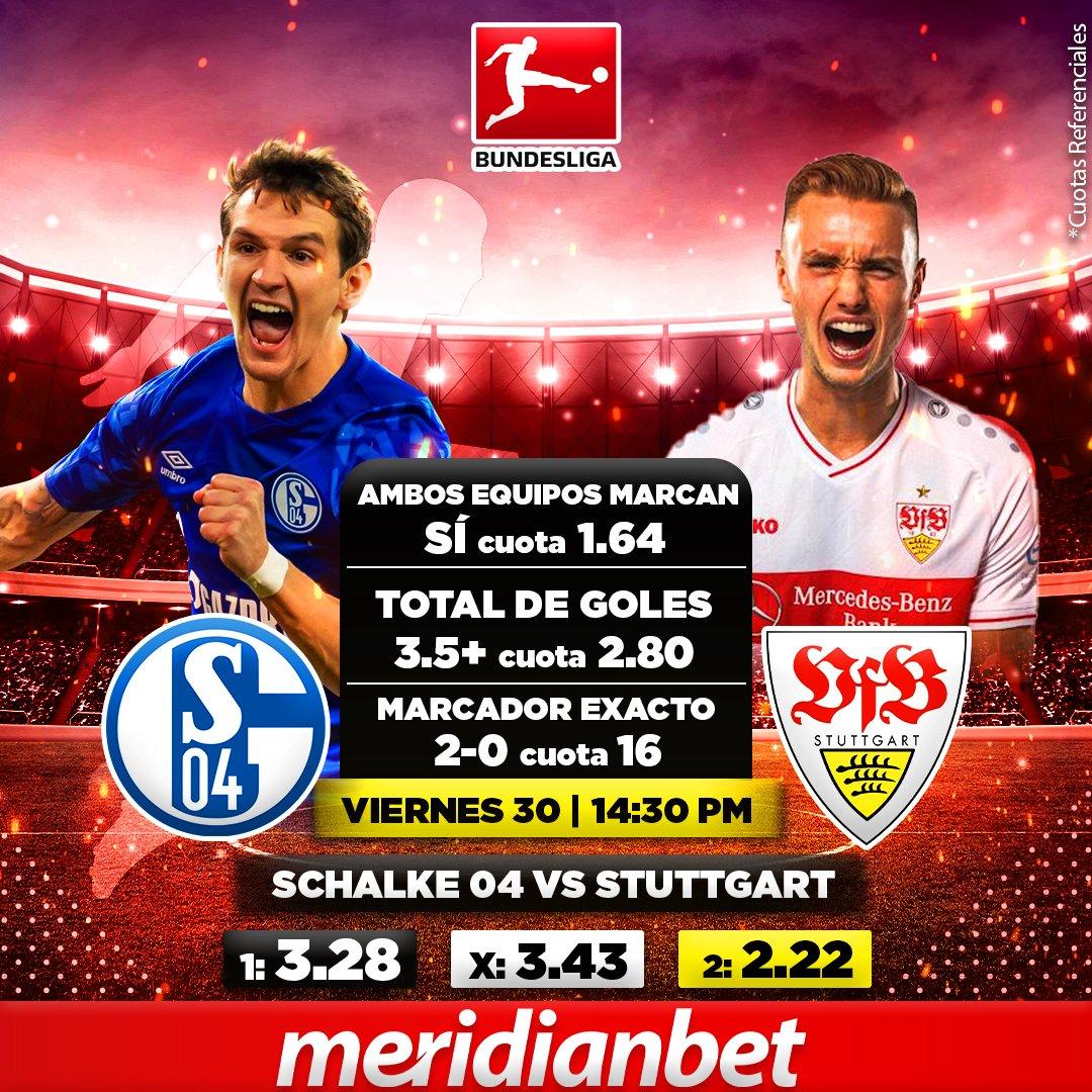 #Bundesliga🇩🇪 🏆 Partidazos en la liga alemana🥳🏆 #Schalke04 🆚 #Stuttgart  ¡Apuesta y Gana! 🤩⚽  #Meridian #Meridianbet #MásQueUnaPasión #ApuestasDeportivas https://t.co/mxQWeKSZAn