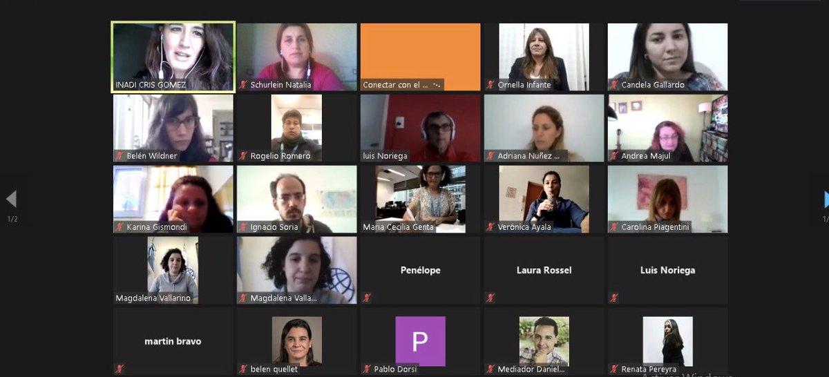 Hoy se desarrolló el primer encuentro virtual sobre discriminación del @inadi para nuestro voluntariado.  La apertura estuvo a cargo de nuestra directora de Gestión del Riesgo @maguivallarep y @OrnellaInfante, directora nacional de Políticas contra la Discriminación de @inadi.(+) https://t.co/3iH47j61BH