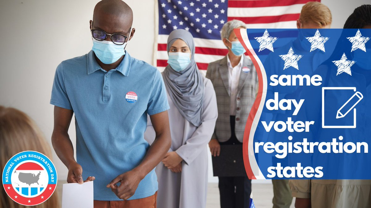 Did you miss out on getting registered on #NationalVoterRegistrationDay? 1) We missed you 2) Trust us -- it was lit 🔥 3) If you live in one of 23 states or DC, you CAN register up to & including #ElectionDay! See if your state made the list!  #VoteReady