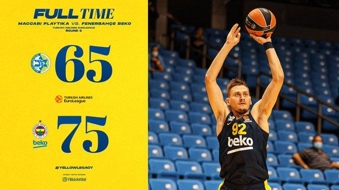 EuroLeague – Fenerbahce sbanca Tel Aviv, Maccabi battuto 65-75