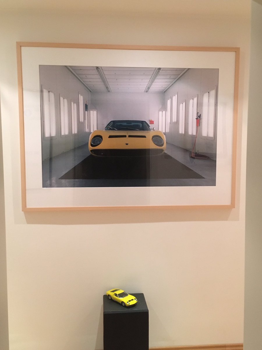 @LienhardRacing Yellow #Miura?  Sarah Morris meets #AutoArt 1:18  In my corridor.  #Lamborghini https://t.co/v7XgbgwZAl