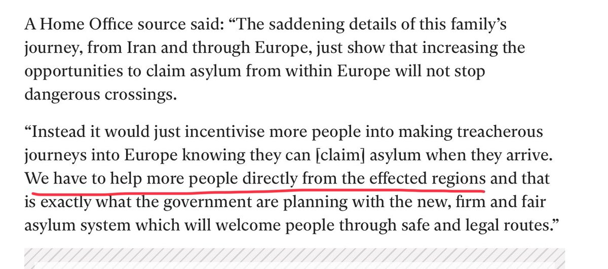 Yet more evidence, if it's needed, that the Tories intend to exploit this awful tragedy so as to undermine & discredit spontaneously arriving asylum seekers in favour of controlled arrivals eg from refugee camps  They absolutely mustn't be allowed to make this an either-or choice https://t.co/rh5zLRpdgQ https://t.co/xif1mQCDK5