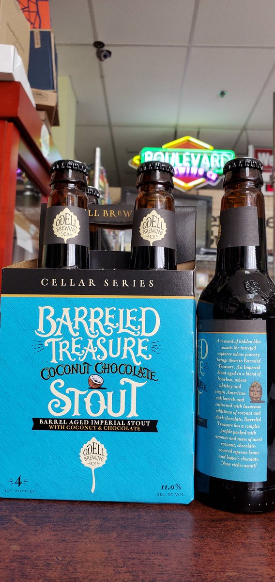 NEW @odellbrewing Barreled Treasure Coconut Chocolate Imperial Stout 11%  #mckinneytx #craftbeer #shoplocal #drinklocal #allentx #friscotx #texas #texascraftbeer #melissatx #txbeer https://t.co/0Z3b2s7ypz