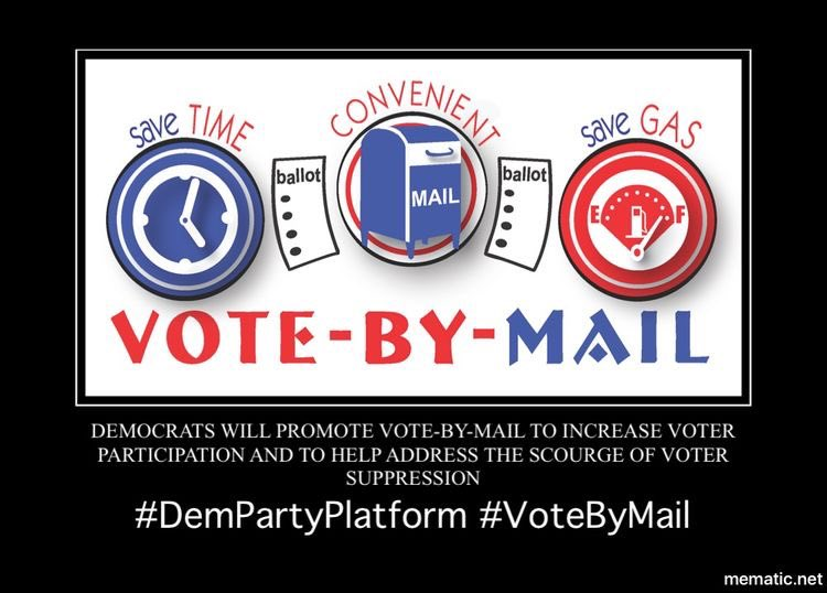 #Democrats will make voting easier and more accessible for all Americans by supporting automatic voter registration, same-day voter registration, early voting, and universal vote-from-home and vote-by-mail options.9/13  #DemPartyPlatform  #VoteByMail  #EarlyVoting  #2020Election