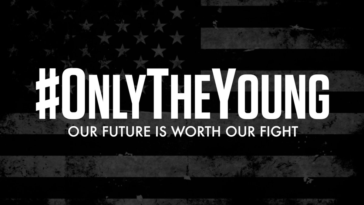 Up there's the finish line.  Our future is worth our fight.  Thank you, @taylorswift13, for voicing what #OnlyTheYoung can do. Let's run!