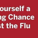 Image for the Tweet beginning: Getting the #flu shot helps
