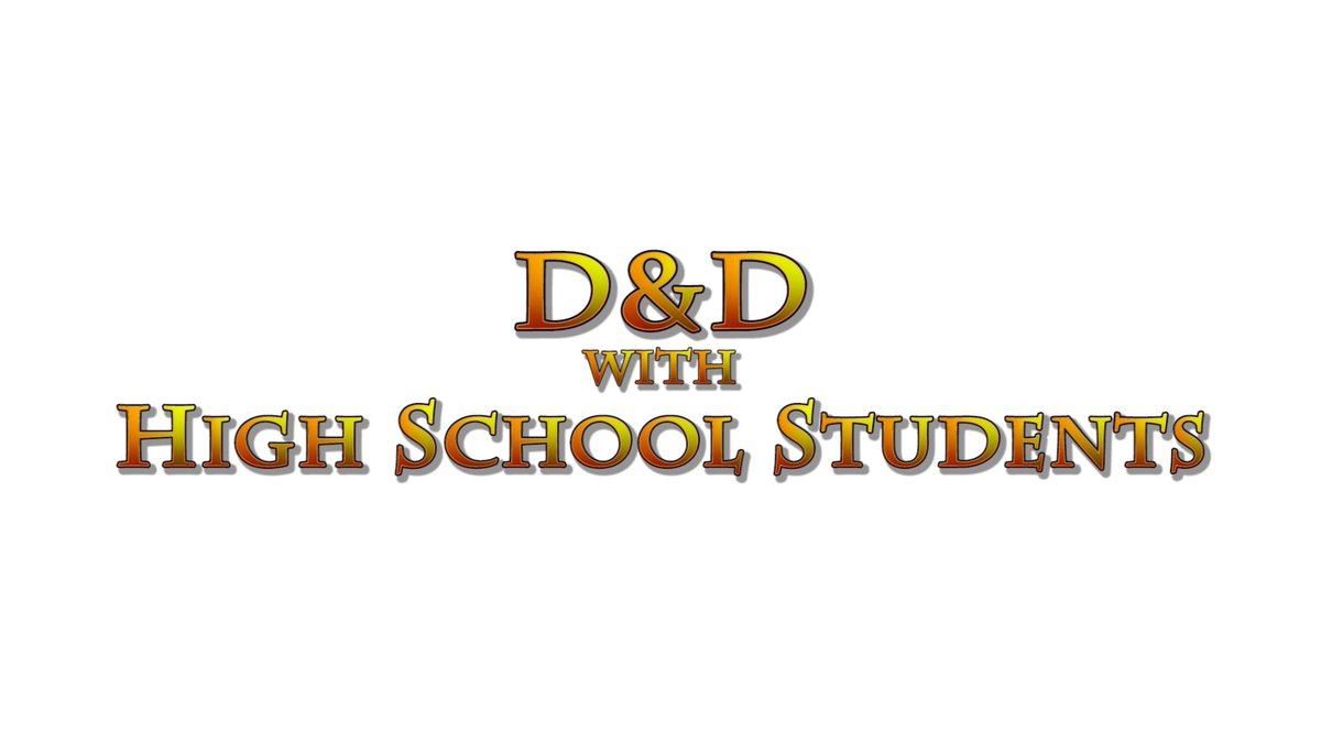 """Need a new series to watch?  Check out the complete series playlist for """"D&D with High School Students"""".  https://t.co/gDrB3wMGrm  #dndwithhighschoolstudents #dnd #dungeonsanddragons #dnd5e #actualplay #ttrpg https://t.co/iQJkDgLVmy"""
