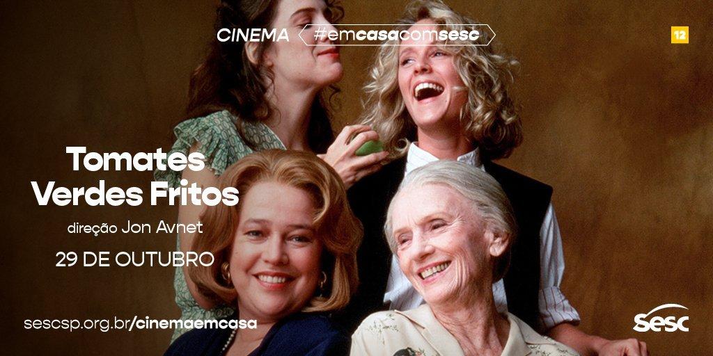 """Já no Cinema #EmcasacomSesc, mais quatro títulos entram em cartaz na Plataforma Sesc Digital! Destaque pra comédia dramática """"Tomates Verdes Fritos"""" - quem já chorou vendo? O endereço para assistir a tudo, gratuitamente, é https://t.co/TCYCULiQID https://t.co/JPVmIkBHqb"""