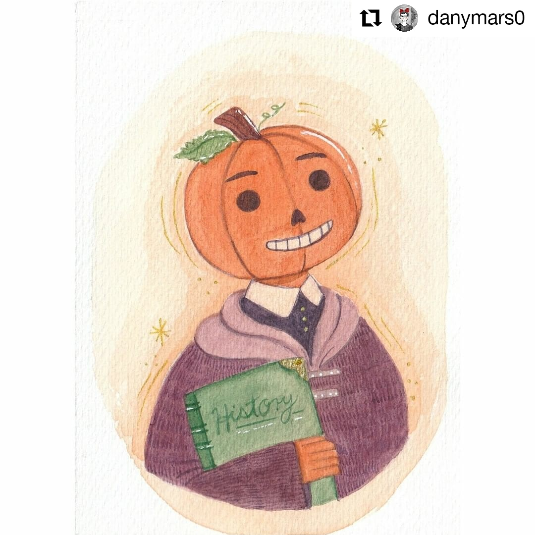 @danymars0 •  | Día 29: The brilliant professor Pumpkin + magic 🎃✨ (La brillante profesora Calabaza + magia)  📋@drawlloween 📋@rit.aria   #Drawlloween2020#Ariaillutober2020 #Drawlloween #Ariaillutober  #Illustration #Ilustración #Art #WomenWhoDraw #IlustradorasMexicanas