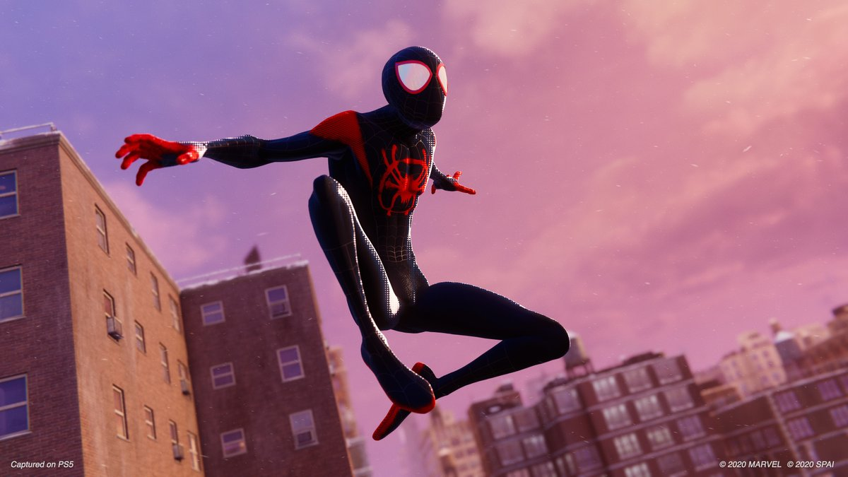 "🕷️ Your first look at the unmistakably stylish ""Spider-Man: Into the Spider-Verse"" Suit, a launch day bonus for ""Marvel's Spider-Man: Miles Morales"" on PS4 and PS5:  #BeGreater #BeYourself @PlayStation"