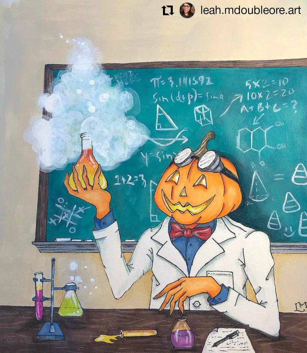 #Repost @leah.mdoubleore.art • • • • • • Drawlloween prompt: The Brilliant Professor Pumpkin. •  @drawlloween  #drawlloween2020  #drawlloween  #thebrilliantprofessorpumpkin  #illustration  #halloweenart #halloweenartwork