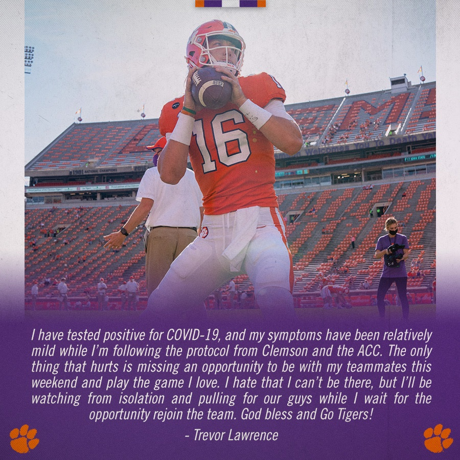 Trevor Lawrence (@Trevorlawrencee) on Twitter photo 30/10/2020 02:02:28