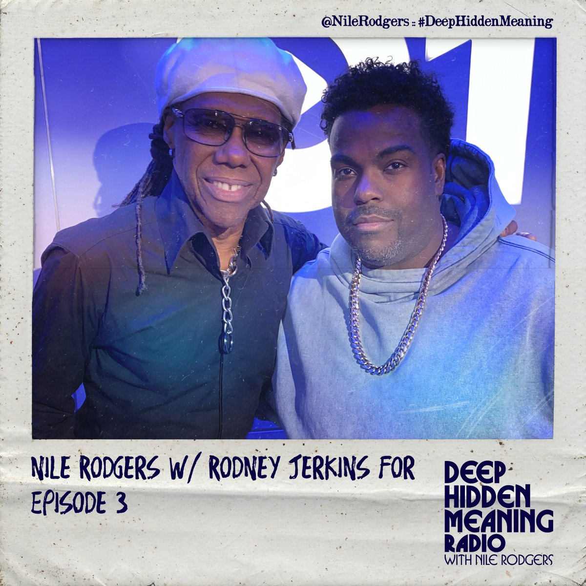 "Replying to @nilerodgers ""Did you miss my latest episode of #DeepHiddenMeaning on @AppleMusic where I talk to @JackAntonoff, @TonesAndIMusic & @RodneyJerkins ???  Well, check out the next airing THIS SATURDAY - Oct 31 10am LDN / 6am NYC / 3am LA / 9pm Sydney … """
