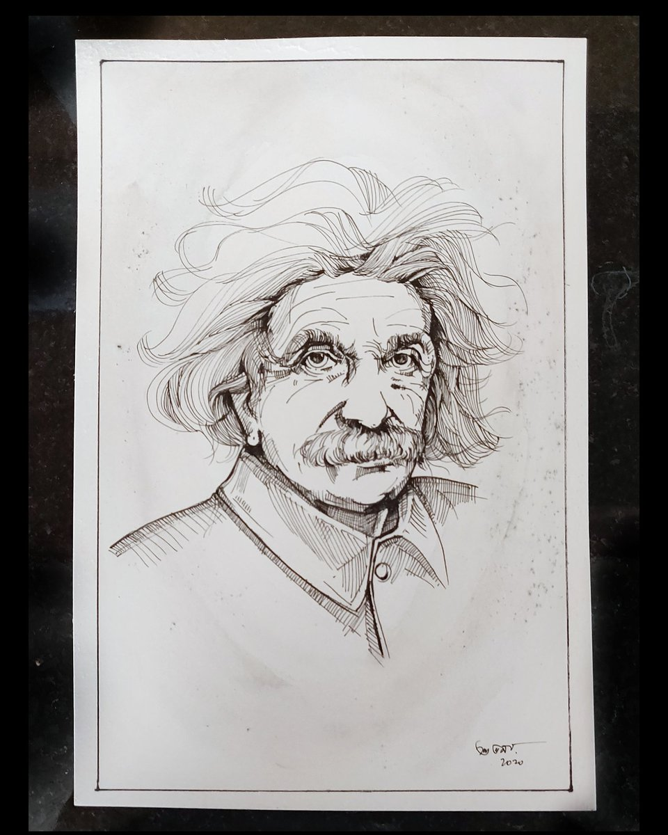 Ode to the genius - a pen sketch  #drawing #pen #sketch #art https://t.co/iGRnC05fnw