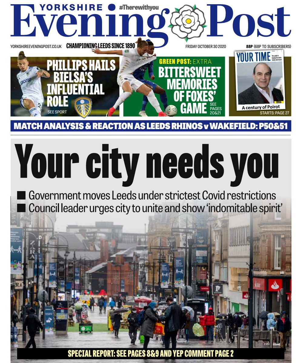Leeds is renowned for being a strong, resilient city and once again we must all come together. Our city is at its best when it puts on a united front – but we must not underestimate the impact this latest challenge will have on each of us. yorkshireeveningpost.co.uk/news/opinion/l…