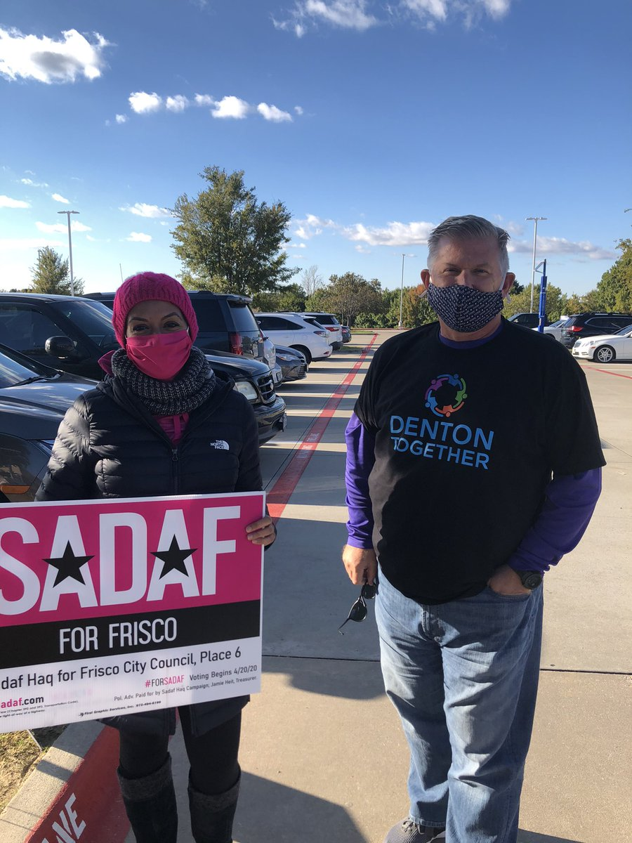 Look who was out at Collin College when I stopped by.....my good friend @FriscoSadaf   Sadaf is running for Frisco City Council Place 6.....  Make a Voting Plan.... https://t.co/qV9XAoymNU