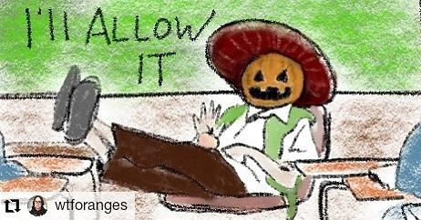 #Repost @wtforanges • • • • • • You aren't a professor. Are you even a Spanish teacher? #benchang #drawlloween2020 #community