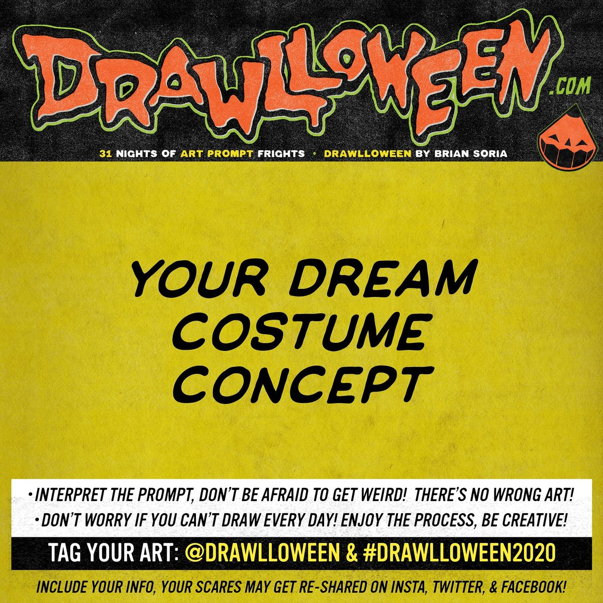 Today's #Drawlloween Prompt:  Your Dream Costume Concept: If you had no limitations, what would your perfect Halloween costume look like?  #DRAWLLOWEEN2020
