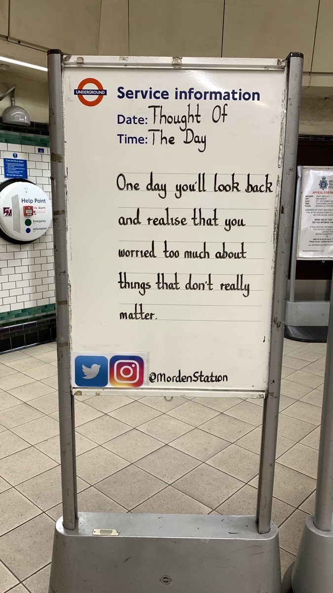 Friday 30th October 2020 Thought Of The Day From Morden Station