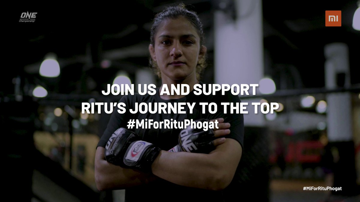"""Watch Ritu Phogat Vs. Nou Srey Pav tonight at 6 pm in the biggest event of 2020, One Championship """"Inside the Matrix"""" on @MiTVIndia PatchWall.  Mi Fans, RT and show your support with #MiForRituPhogat."""