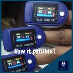 Image for the Tweet beginning: How it possible? #oximeter #pulse #covid_19