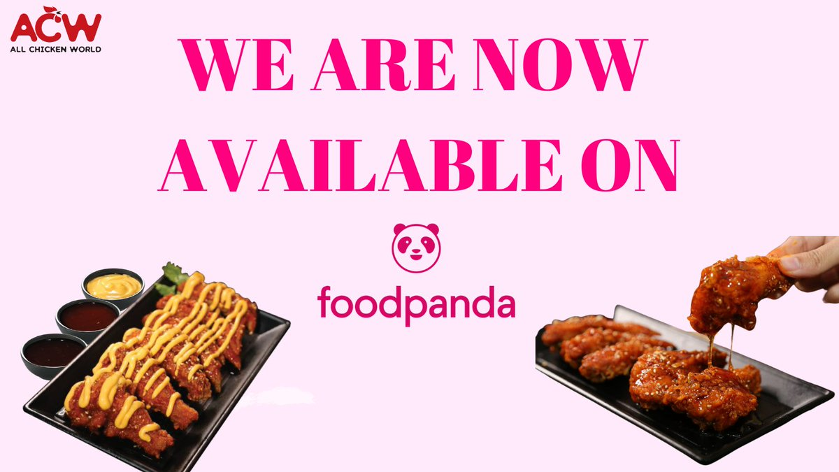 Alhamdulillah, we are glad to share you this exciting news!- Kini, anda boleh membuat pesanan order daripada All Chicken World melalui Foodpanda❤️  Click link below to make your order with us 🥰 https://t.co/MRxcgVRo9W  #foodies #koreanfood #delivery #delicious https://t.co/IKr8F53PJ6