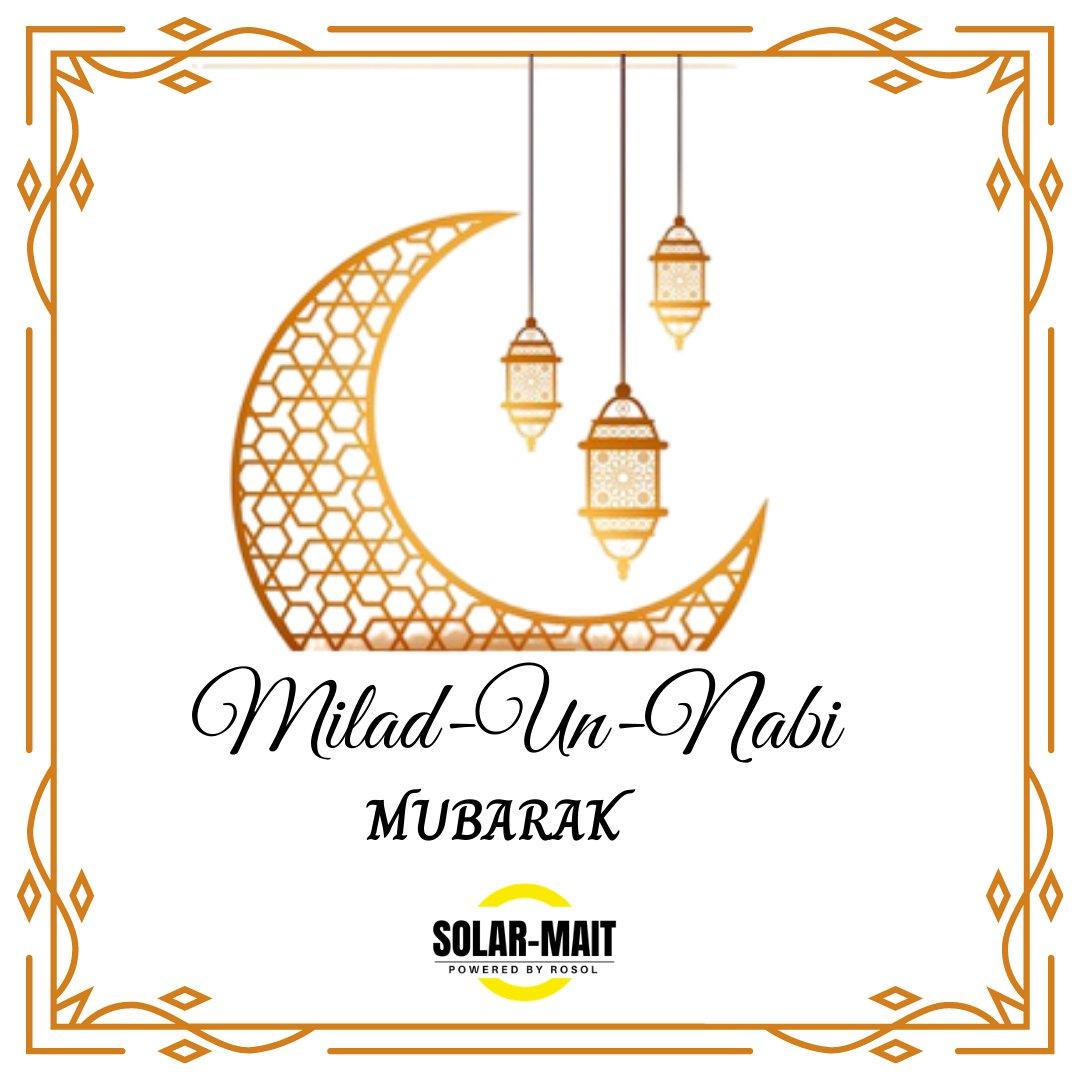 Milad -Un-Nabi is a day to celebrate Love and Compassion💛 . #SolarmaitIndiakasolar #solarenergy #solar #greenenergy #cleananergy #renewableenergy #solarpanels #india #solarinstallation #EidMiladUnNabi https://t.co/vOmxLUV3DT