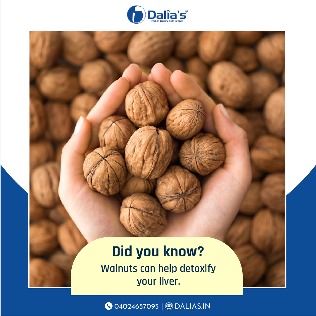 Did you know? Walnuts can help detoxify your liver. Order PREMIUM Walnuts from Dalia's now! . . . Learn more about us: https://t.co/j5AI1lywbs⠀ ⠀ #DaliasDryFruits #Dryfruits #Delicious #HealthyFood #Yum #Gifting #Diet https://t.co/mhLOBedR7G
