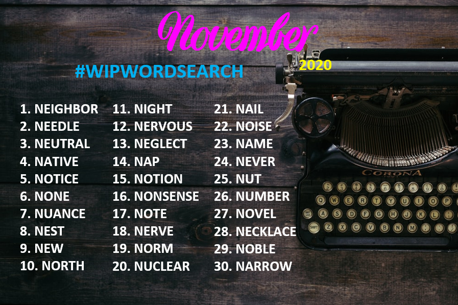 Happy Nano! #WIPWORDSEARCH for November❤️ #amwriting #writingcommunity #writerslife #authorslife @thewriteprompt https://t.co/hg1iQcpb6h