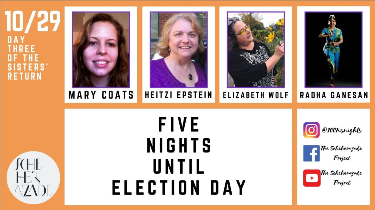 #101nights: The Morning After Report - https://t.co/ORt0StQdLa Watch last night's episode with @MaryFCoats , Heitzi Epstein, Elizabeth Wolf, and Radha Ganeson & get link for tonight! #artists #spokenword #dance #artlovers #writingcommunity #activism #VOTE #Election2020 https://t.co/vFnXa9BPpR