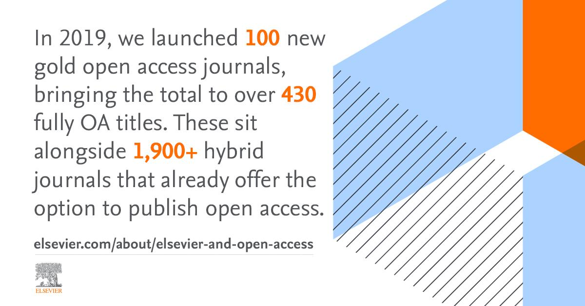 In 2019, we launched 100 new gold #openaccess journals, bringing the total to over 430 fully #OA titles. These sit alongside 1,900+ hybrid journals that already offer the option to publish open access. Find out more: https://t.co/85sUUDYtwZ https://t.co/GRSLhbsenR