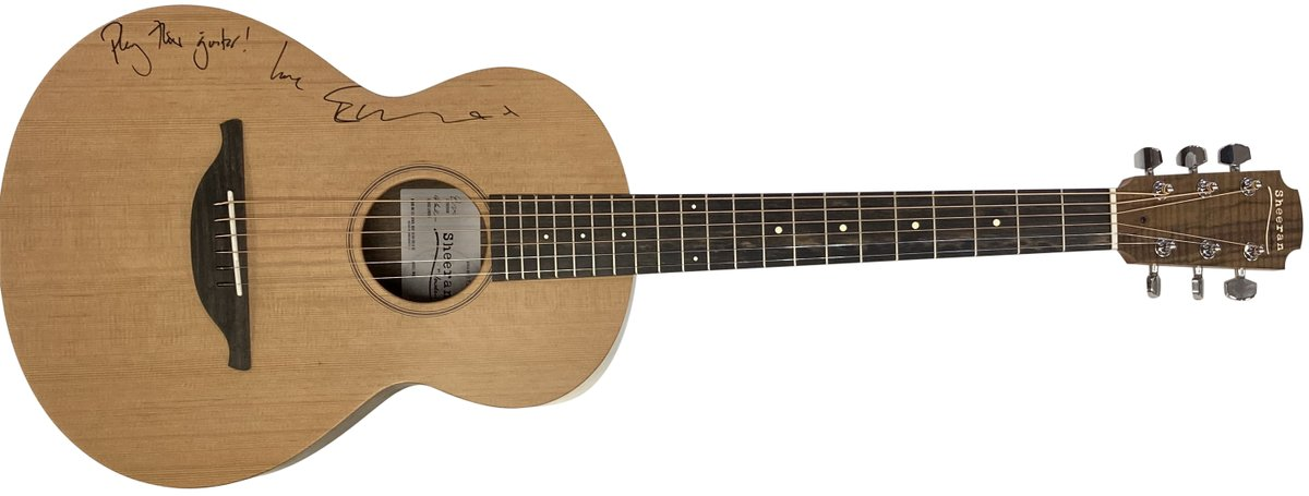 An #EdSheeran guitar by Lowden signed with an inscription 'Play this guitar!' by Ed Sheeran at lot 545. All proceeds from this lot to Florence Nightingale Hospice Charity in memory of Airtrooper Daniel Pope.    bid - https://t.co/Ns6eu85HJz https://t.co/oK9b6wPia5