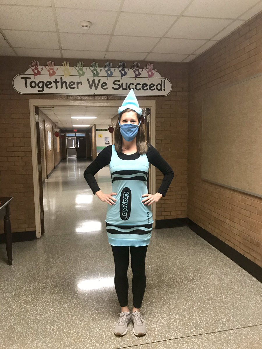 """Character Dress-Up Day! """"The Day the Crayons Quit"""" — OF COURSE I am the blue crayon!!! @HowardHallElem"""