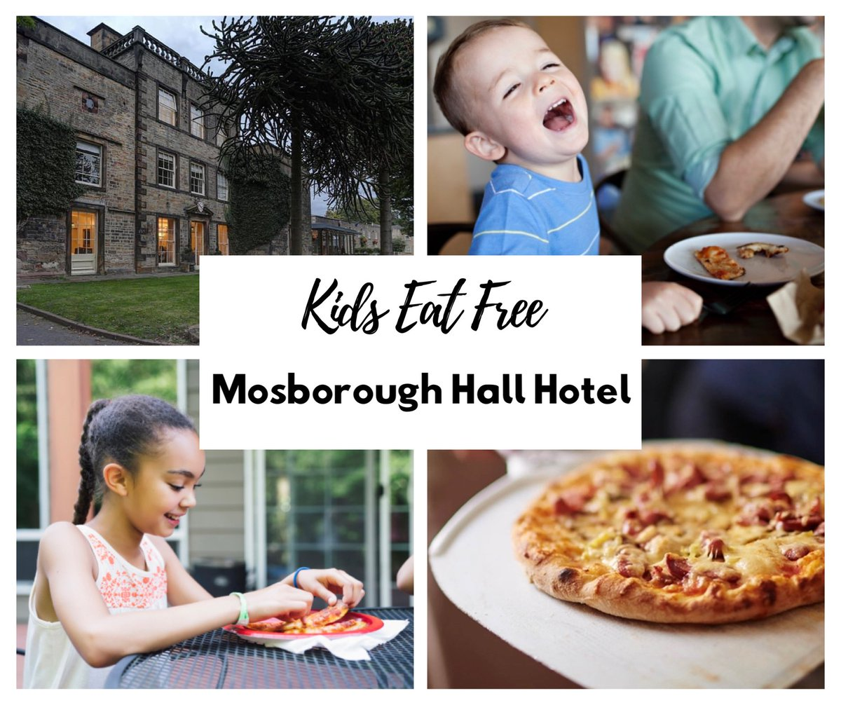 ⭐️ Kids Eat Free at Mosborough Hall Hotel ⭐️  Every Monday - Friday between 5pm and 7pm, children under 12 eat free!   (One child eats free for each paying adult)   Booking a table is required, you can view our menu & make a booking via our website:   W. https://t.co/OKhSquXKvG https://t.co/zTZ72gyONJ