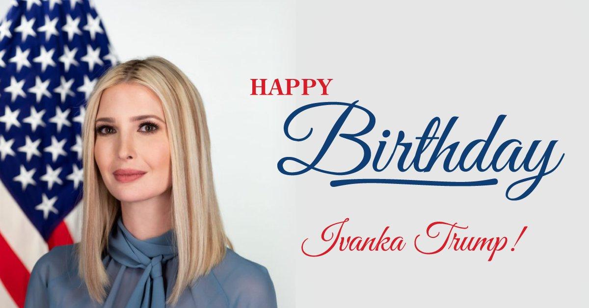 RT to wish @IvankaTrump a very HAPPY BIRTHDAY! https://t.co/tEbyIy9T86