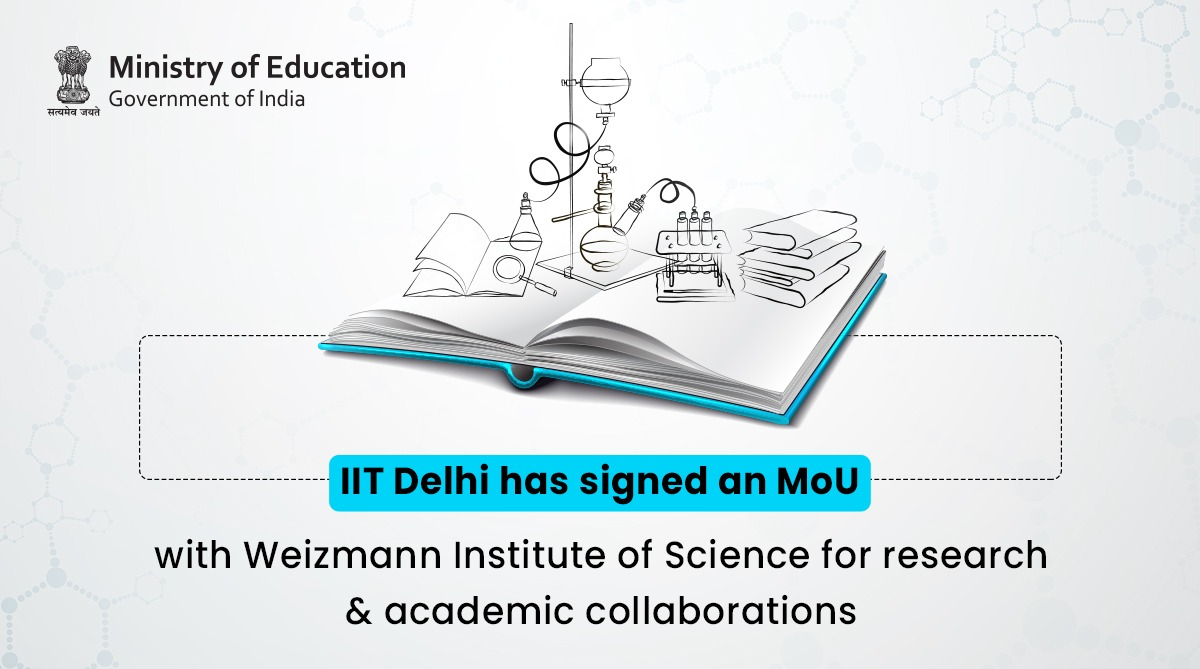 .@iitdelhi has signed an MoU with @WeizmannScience to accelerate collaborations within #research, post-doctoral exchange, short-term educational programmes/workshops/conferences etc.  My good wishes are with these pioneer institutions! https://t.co/No143Q7p3E https://t.co/PfL5gBVrFG