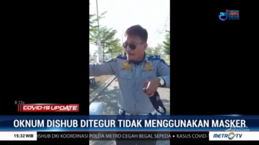 #COVID19UpdateMetroTV Video petugas Dishub Sulawesi Selatan yang terlibat perdebatan dan marah karena ditegur oleh pesepeda, karena tidak menggunakan masker di ruang terbuka, beredar luas di media sosial. Streaming:  #IndonesiaMelawanCovid19