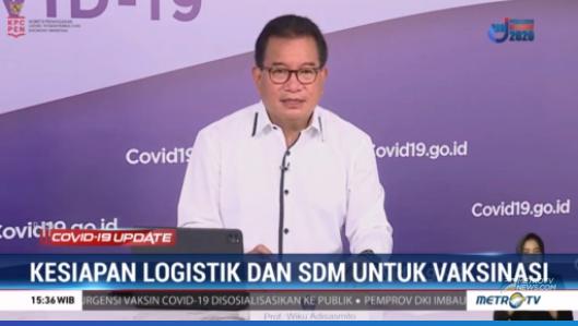 #COVID19UpdateMetroTV Jubir pemerintah untuk penanganan COVID-19 Wiku Adisasmito menyampaikan bahwa seluruh provinsin di Indonesia masih terus berusaha mengembangkan persiapan vaksinasi sesuai dengan road map Kementerian Kesehatan. Streaming: