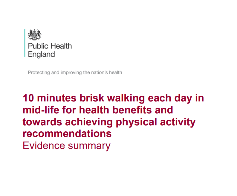 If 1 in 10 of the 7 mln people in the group of  those aged 40-60 years in lower socioeconomic groups started to do 10 min of walking per day, it is estimated it would prevent 251 deaths per year and achieve an economic saving of £310 mln per year [https://t.co/4g5ipA1NoX, 2017]