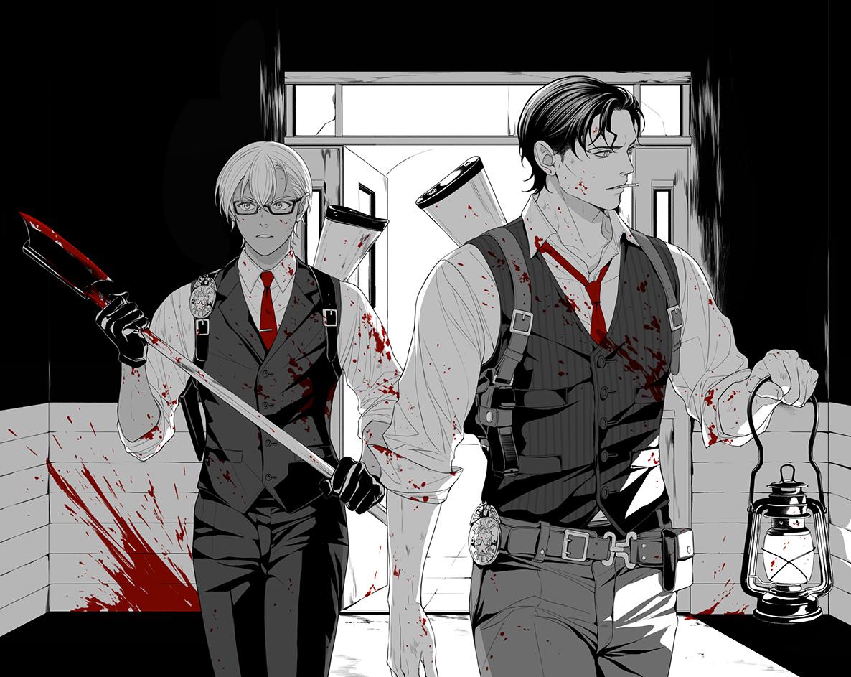 RT @002frame: ハッピーハロウィン🧟♂️💀🎃👻 サイコブレイクX赤安(⚠️ 血注意) https://t.co/MRY0t1nhw7