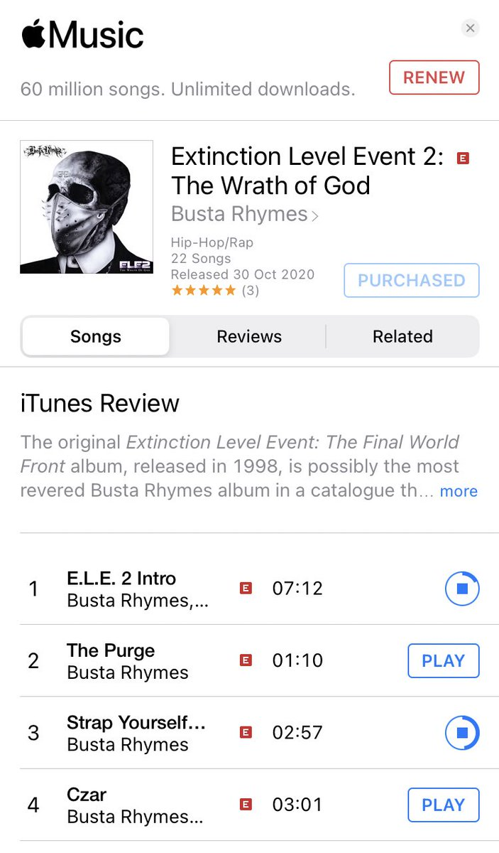 whoa!#ExtinctionLevelEvent2TheWrathOfGod is hands down the most lyrically impressive and tightly produced rap album I've heard in the last ten years. Nothing comes close. My rating: 🎤🎤🎤🎤🎤 https://t.co/WPLsh8d6ia