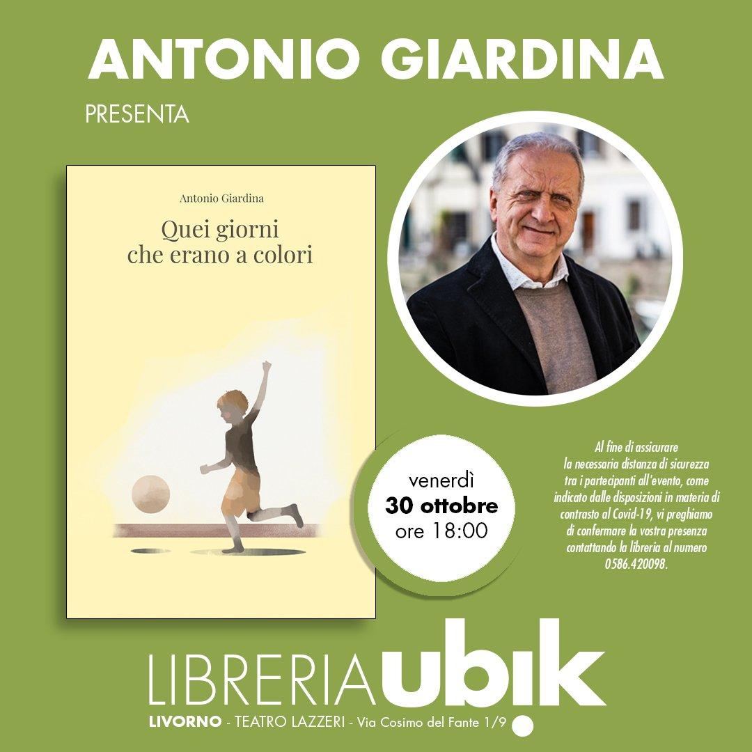 Se siete di Livorno venite a conoscere il nostro autore Antonio Giardina! Sarà alla libreria Ubik per firmarvi la copia del suo libro