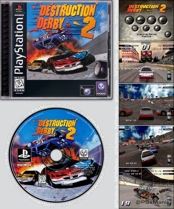 """24 years ago #OnThisDay (Oct 31, 1996), """"Destruction Derby 2"""" was released for #PlayStation™ in North America! 🎂🎉🎈🎊🥳  #PSX #PS1 #PlayStation1 #retrogames #RetroGameSearch #RetroGaming #GamersUnite https://t.co/AG2Dzx7k4S"""